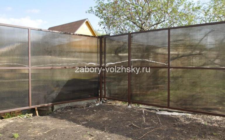 забор из поликарбоната в Волжском