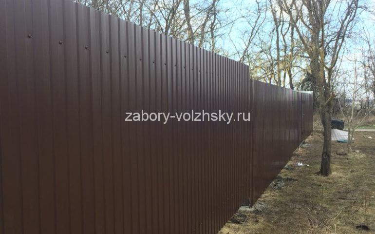 забор из профлиста в Волжском